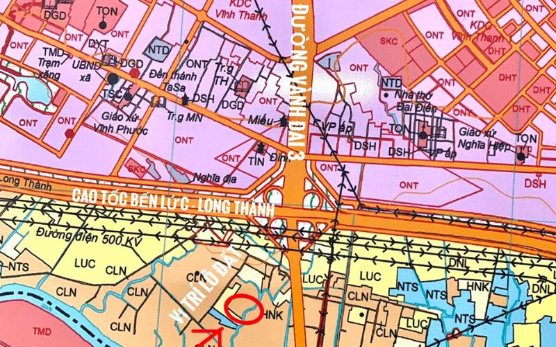 Bán Đất Nhơn Trạch Gía Rẻ 2.2tr/ m2 Khu Dân Cư, Diện Tích 32 x 38 tổng 1249 m2
